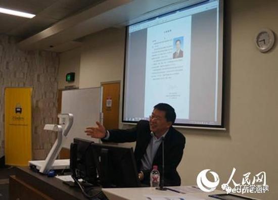 """中国驻澳大利亚使馆举办""""领保进校园""""活动"""